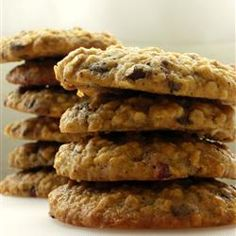 Applesauce Oatie Cookies | Chewy oatmeal cookies with nuts, raisins, and chocolate chips. Repin if you're a fan!
