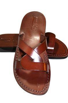 Brown Tumble Leather Sandals For Men & Women Handmade Unisex Sandals, Flip Flop Sandals, Jesus Sandals, Genuine Leather Sandals, Leather Slippers, Mens Slippers, Leather Sandals, Shoes Sandals, Dress Shoes, Buy Shoes, Flat Sandals, Gladiator Sandals, Fashion Models