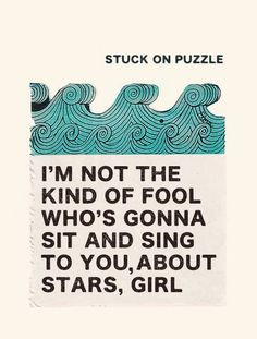 'Stuck on the Puzzle' by Alex Turner