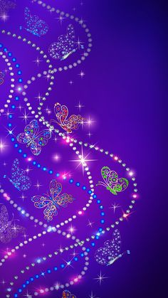 By Artist Unknown. Dragonfly Wallpaper, Blue Butterfly Wallpaper, Sunset Wallpaper, Purple Wallpaper, Butterfly Flowers, Cool Wallpaper, Wallpaper Ideas, Wallpaper Backgrounds, Wallpaper Borders