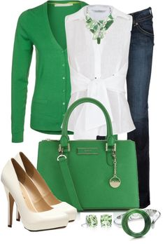 """Let's Do Green"" by averbeek on Polyvore"