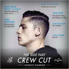 The side part crew cut