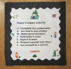Happy Campers Acrostic