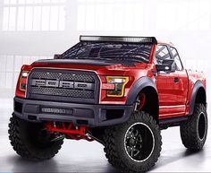 2017 Ford Raptor // Pretty truck, unfortunate that its a Ford Jacked Up Trucks, Custom Trucks, Cool Trucks, Pickup Trucks, Cool Cars, Jeep Pickup, Ford 2000, M Bmw, Hors Route