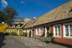 Streets of old Lund Skåne Sweden