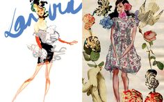 I love Christian Lacroix, and his illustrations are impeccably beautiful. For Tank Magazine