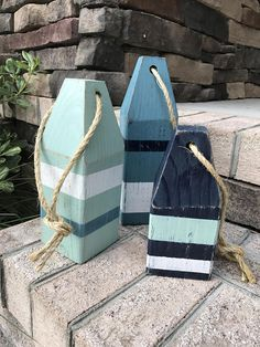 Hey, I found this really awesome Etsy listing at https://www.etsy.com/listing/276373796/lobster-buoys-set-of-3-wooden-buoys