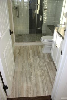This is Silver Sienna travertine and it typically readily available. It can be called many different things depending on your supplier. But typically the word Silver will be in it. Ocean Silver, Silver, travertine