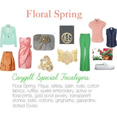 """""""Caygill Special Focalizers: Floral Spring"""" by expressingyourtruth on Polyvore"""
