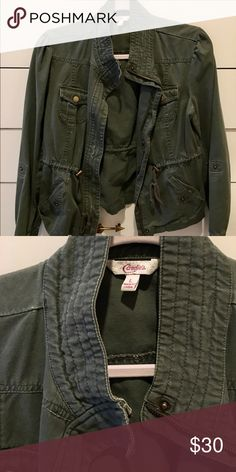 Army Green Jacket Super versatile army green cargo jacket, from Candie's. Candie's Jackets & Coats Utility Jackets