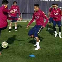 Treino de hoje ⚽ ❤  #NeymarJr #Neymar #NJR #FCBarcelona #FCB #ViscaBarça #LigaBBVA #CampeonatoEspanhol #FCBReal