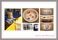 father's day pottery cafe painting bowl london stamps