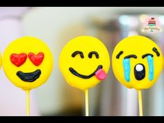EMOJI CAKE POPS | FÁCIL SOLO 3 INGREDIENTES | MIS PASTELITOS KIDS - YouTube