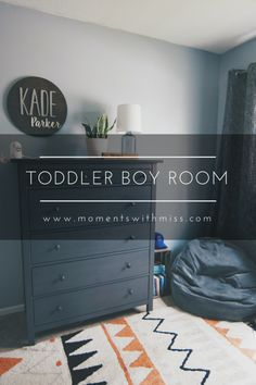 Toddler Boy Room — Moments with Miss - Boy Toddler Bedroom, Toddler Rooms, Baby Boy Rooms, Toddler Boy Room Ideas, Activities For 1 Year Olds, Toddler Learning Activities, Infant Activities, Frog Activities, Baby Room Themes