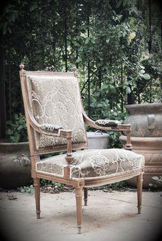 Antique Louis XVI arm chair, Postcard from Paris Home.  Engrid Latina Photography