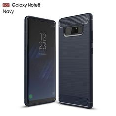 Carbon Fiber Soft TPU Brushed Anti-knock Back Cover for Samsung Note 8