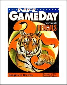 1992 Cincinnati Bengals, Broncos Game Day Program Poster. A great gift for any Bengals fan.. This ready-to-frame poster is printed to order on heavyweight satin photo paper. Buy with confidence. I stand behind everything I sell. If you are not satisfied please contact me so I can resolve your unmet expectations. Nfl Browns, Cleveland Browns, Browns Football, Football Wall, Nfl Football, Iron Art, Cincinnati Bengals, Broncos, Order Prints