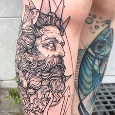Anki Michler Tattoo Hamburg, Tattoo Freestyle ankimichlertattoos.de King Triton