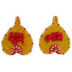 Thali Decoration Ideas, Diy Diwali Decorations, Diwali Diy, Diwali Craft, Diwali Candles, Indian Rangoli, Festive Crafts, Happy Ganesh Chaturthi, Fabric Jewelry