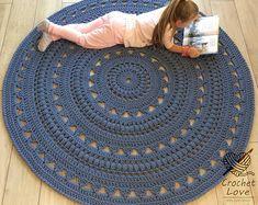 CROCHET RUG Doily rug Round carpet crochet round rug knitt carpet babys rug hand knitted rug ECRU crochet rug or choice of color Crochet Carpet, Crochet Home, Crochet Gifts, Crochet Doilies, Knit Or Crochet, Diy Carpet, Beige Carpet, Rugs On Carpet, Stair Carpet