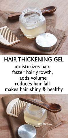 THICKENING GEL Hair Thicken Hair Naturally, Naturally Curly, Hair Thickening Tips, Hair Thickening Remedies, Remedies For Thinning Hair, Hair Thickening Treatment, Hair Breakage Treatment, Hair Spa Treatment, Healthy Hair Remedies
