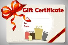 gift shaped gift certificates customize online free instant