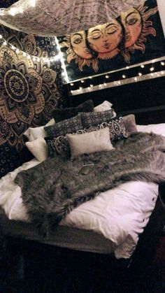 hippie bedroom decor 812547957754206711 - What do you not know about Boho Hippy Bedroom Room Ideas Cozy Power Shock You 27 – Source by Tapestry Bedroom, Bedding Master Bedroom, Room Ideas Bedroom, Cozy Bedroom, Bed Room, Bedroom Designs, Dorm Room, Bed Designs, Bedroom Colors