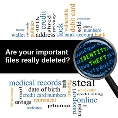 How to wipe your hard drive clean before you sell or donate it.  Protect yourself from identity theft.