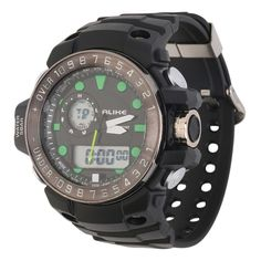 Digital Rubber Band Sport Date Chronograph LED Wrist Watch with RedWhiteGreenOrangeBlue color