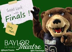 Good Luck to #Baylor students studying for finals!!! You can do it!