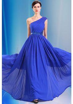 Prom Dress, long evening dress ,one shoulder Prom