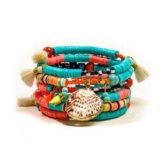 Bracelet Multi Magic Turquoise/ corail - BIKISEA