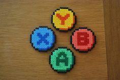 XBox 360 Button coasters hama beads by ThePixelDeli