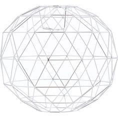 Chrome Geometric Ball Lampshade 38x50cm