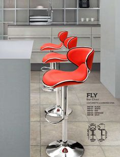 Zuo Fly Bar Chairs make a great modern kitchen accessory. Available in Black, Brown, Gray, Red, & Espresso.Free Shipping to Continental U.S. See how they look in other colors today!