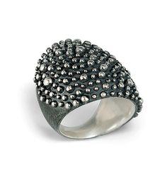 Bumpy Armor Ring: Dahlia Kanner: Silver Ring | Artful Home