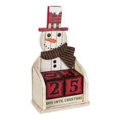The Holiday Aisle Warm Wishes Snowman Christmas Countdown