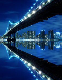 Manhattan Bridge and Skyline #NewYork