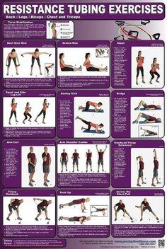 resistance bands back/leg/biceps/chest/triceps