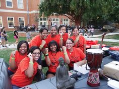 The students from Wake Forest University Stores take over the lawn on National Student Day