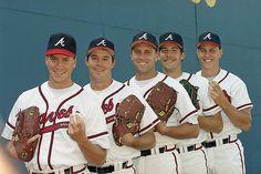 "Atlanta Braves ""Fab Five"" Pitchers Dream Team pitchers Braves Baseball, Baseball Players, Baseball Cards, Tom Glavine, Mlb, Atlanta Braves, Atlanta Georgia, National League, Sports Stars"
