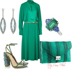 """""""VINTAGE MINT"""" by myownflow on Polyvore"""