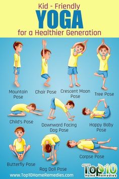 Yoga is a great way to get your child in action and show them that fitness is fun! Check out these 10 essential poses for kids Top 10 Home Remedies. #Yoga@Home