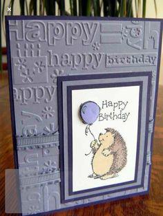 🎈Happy Birthday to You! Simple Birthday Cards, Homemade Birthday Cards, Masculine Birthday Cards, Birthday Cards For Women, Bday Cards, Homemade Cards, Penny Black Cards, Karten Diy, Cricut Cards