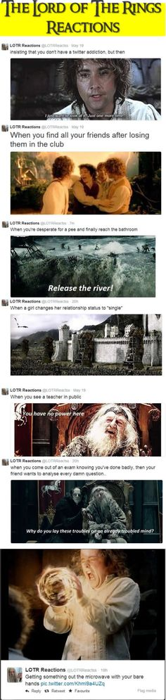 The Lord Of The Rings Reactions the funniest thing on the planet and they're so true
