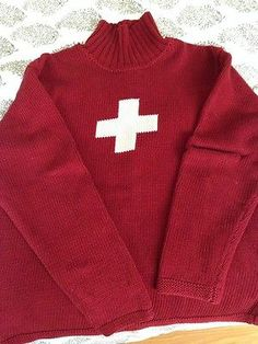 Victorinox Red Swiss Cross Ski Sweater Mens XL Swiss Ski, Ski Sweater, Mens Xl, Baby Items, Skiing, Fashion Outfits, Sweaters, Red, How To Wear