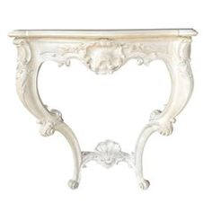 19th Century Louis XV Style French Carved Console, Custom Finish