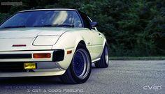 My son Corey's car. 1979 Mazda RX-7 Savanna...