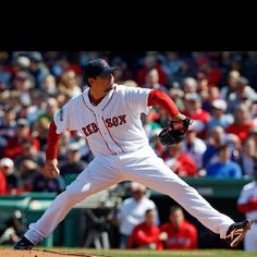 Josh Beckett won on opening day at Fenway!
