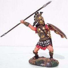 Ancient Greeks & Persians AG011 Spearchucker - Made by Conte Collectibles Military Miniatures and Models. Factory made, hand assembled, painted and boxed in a padded decorative box. Excellent gift for the enthusiast.